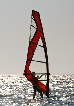 Wind-surfing in Greece