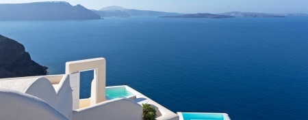 Santorini, views to the Aegean Sea